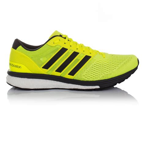 running shoe store boston adidas adizero boston 6 mens yellow running sports shoes