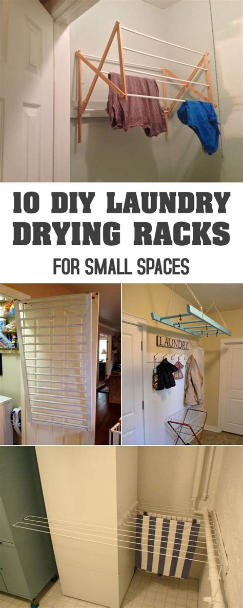 diy laundry drying racks  small spaces laundry