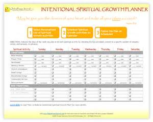 Growth Plan Template by Get Free Intentional Spiritual Growth Planner