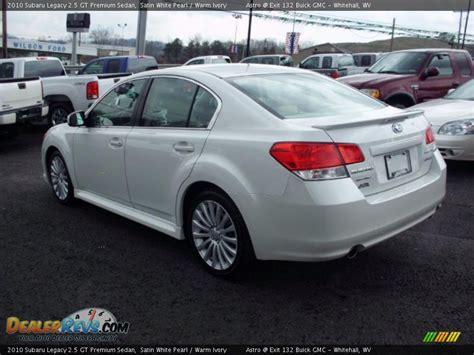 subaru legacy 2 5 gt 2010 2010 subaru legacy 2 5 gt premium sedan satin white pearl