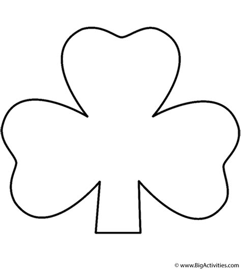 Three Leaf Clover Coloring Page three leaf clover with stem coloring page st s day