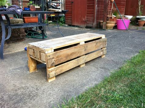bench made out of pallets garden bench made out of a pallet do it yourself