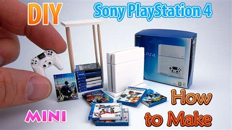 dollhouse ps4 diy realistic miniature ps4 console dollhouse
