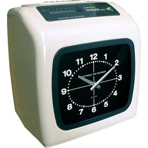 Mesin Absen Clock amano bx6000 electronic time clock time clock world