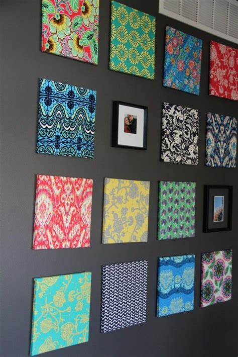 fabric crafts canvas 25 best ideas about fabric covered canvas on