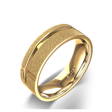 Christian Wedding Rings by Broad Christian Cross Wedding Ring In 14k Yellow Gold