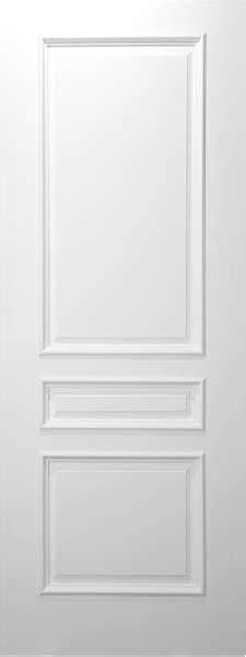 Three Panel Door Interior Eltm3 3 Panel Square Top White Primed With Raised Moulding 1 3 4 Quot Interior Doors