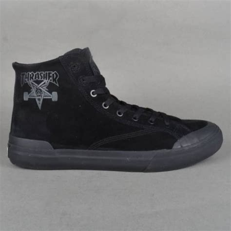 thrasher shoes huf x thrasher asia classic hi skate shoe black skate