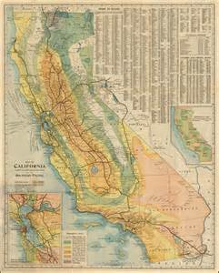map of california compiled from official and authentic