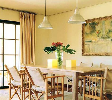 dining room decorating with light yellow color shades
