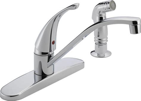 peerless widespread kitchen faucet and side spray peerless 174 1 handle side sprayer kitchen faucet at menards 174
