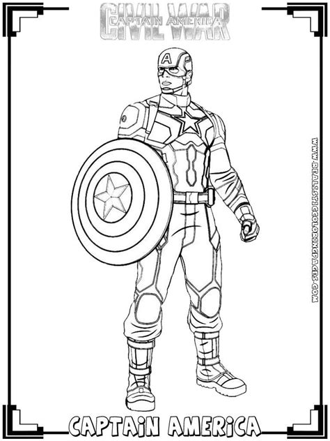 Galerry coloring pages of captain america civil war
