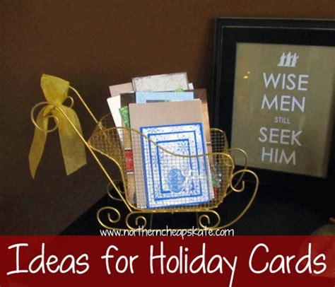 Holiday Gift Card Ideas - organized holiday ideas for holiday cards