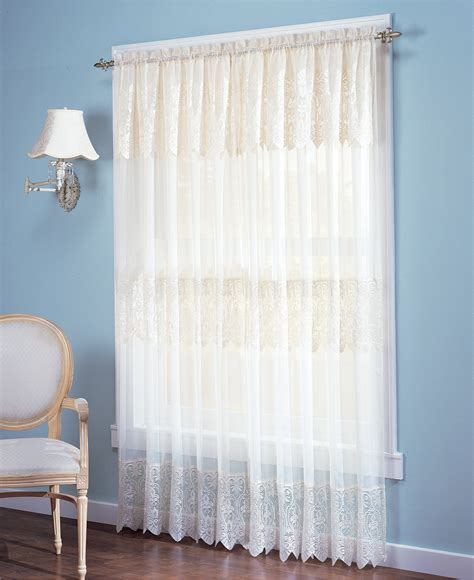 Sheer Curtains With Attached Valance Sheer Curtain Panels With Attached Valance Curtain Menzilperde Net