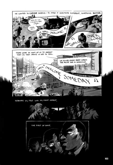 march book three lewis march toward justice depicted in graphic