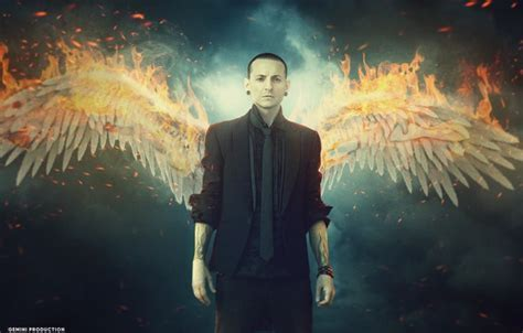 Wallpaper fire, Chester Bennington, by anupamyakuza, Dead