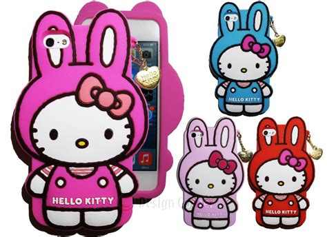 3d Hk Hello Hellokitty Soft Cover Casing Samsung Galaxy J5 lovely 3d rabbit ears hello silicone soft back cove for samsung galaxy xcover 2 s7