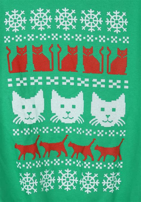 pattern ugly christmas sweater ugly christmas sweater kitty pattern mens sweater
