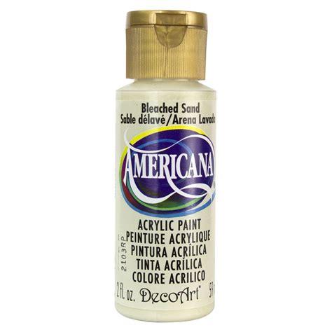 decoart americana 2 oz bleached sand acrylic paint da257 3 the home depot