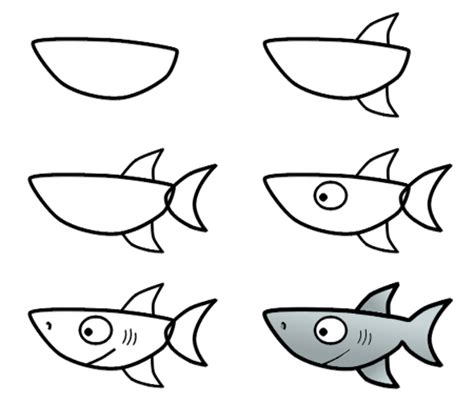 how to draw a doodle shark how to draw a shark step 3 bookmarks