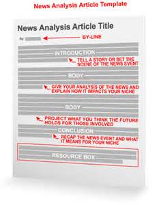 News Story Template by News Analysis Article Template
