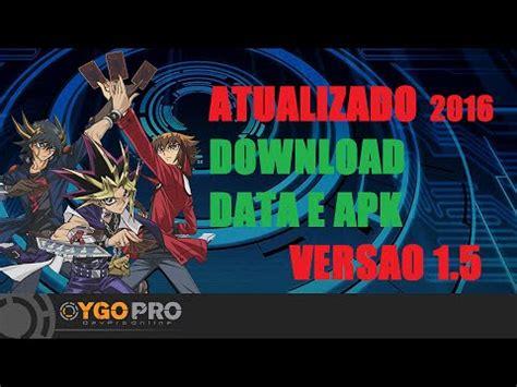ygopro apk yugioh pro android apk e data traduzido vers 227 o 1 5 0 atualizado ygopro