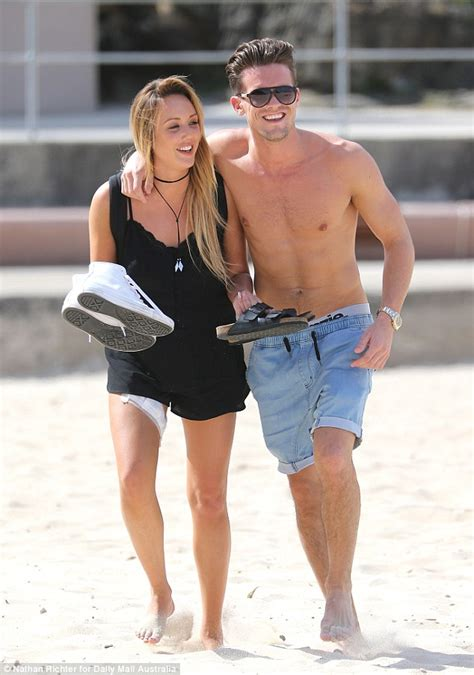 geordie shore s gaz bids for christmas no 1 with debut gaz beadle is tactile with charlotte crosby as pair enjoy