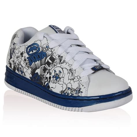 Unlimited Shoes Blue by Boys Ecko Unltd White Blue Print Childrens