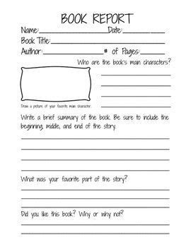 pre written book reports second grade book report template book report form for
