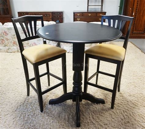 42 inch high bistro table high top bistro style table with 2 matching chairs black fi