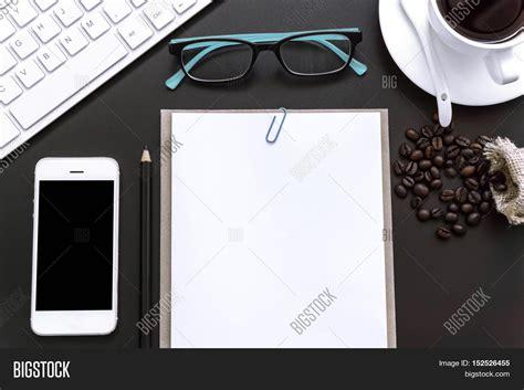 Office Desk Top View Smartphones Image Photo Bigstock Office Desk Top View