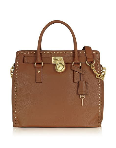 Michael Kors Leather Duffle Bag by Michael Kors Michael Hamilton Leather Tote Bag In