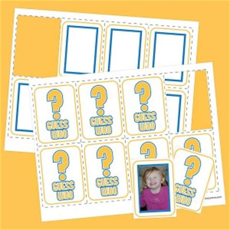 guess who card template guess who family card