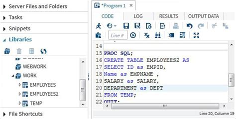 How To Create Temp Table In Sql Sas Sql