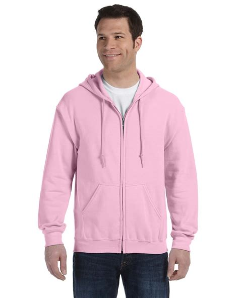 light pink hoodie mens gildan men s ribbed drawstring heavy blend full zip hoodie