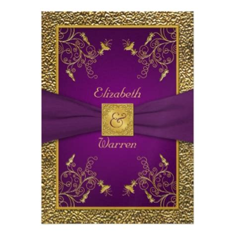 purple and gold wedding invitations purple themed weddings purple and silver combinations jaclinart