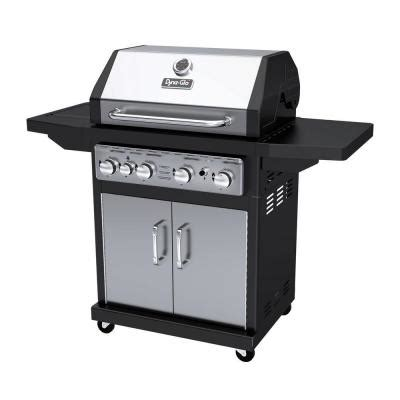 dyna glo 4 burner gas grill with side burner