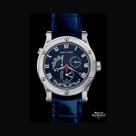 ralph lauren sporting world time ralph lauren sporting rlr steel blue varmished