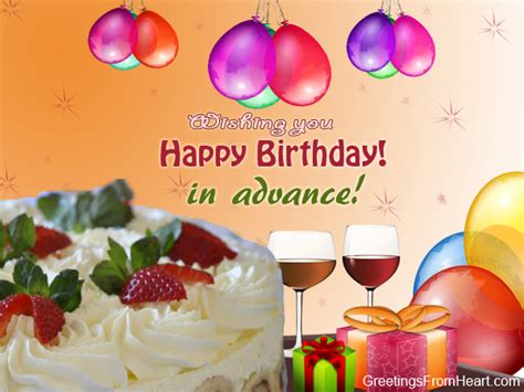Happy Birthday Wishes Advance Birthday Wishes In Advance Page 11