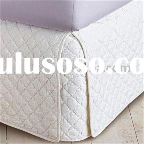 Quilted Bedskirt by Embroidery Bed Skirt Embroidery Bed Skirt Manufacturers