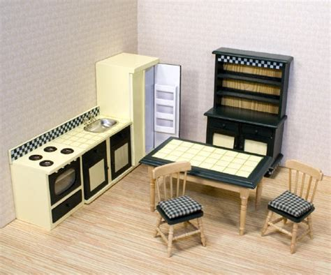 dollhouse furniture kitchen wooden dollhouse furniture by and doug kitchen set