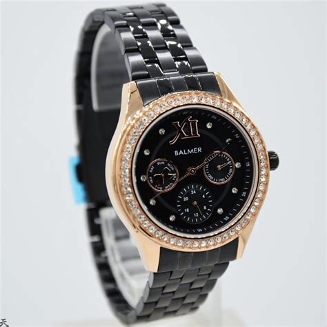 Jam Original Wanita Zeca 136l Black Rosegold jam tangan wanita cewek balmer 7973l original gold and black stainless steel