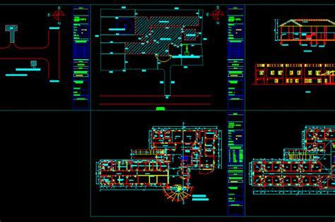 layout autocad 3d hospital layout autocad 3d cad model grabcad