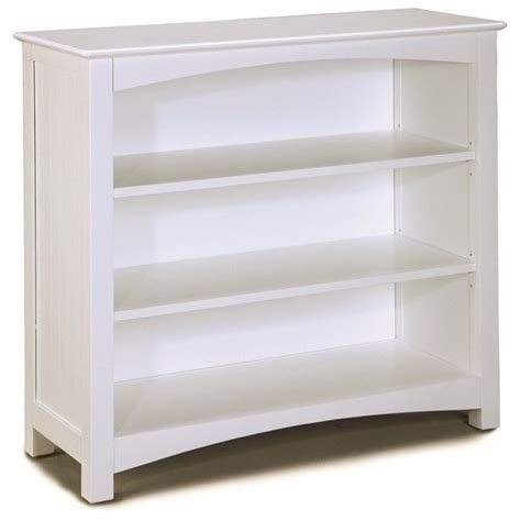 bolton furniture wakefield low bookcase in white