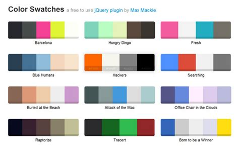 color swatches color schemes webappers web resources webappers