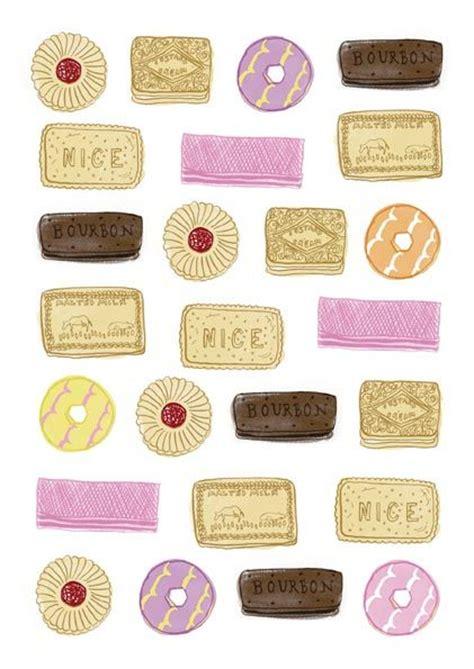 Rd Celana Wafer Pink biscuit pattern illustration malted milk pink wafer custard ring bourbon