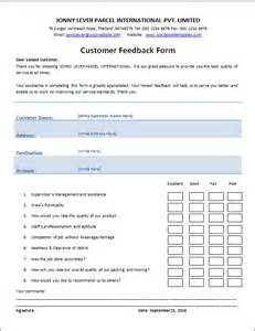 Template For Feedback Form For by Feedback Form Template Html