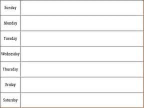 6 printable week calendar memo formats