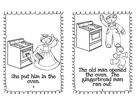 gingerbread man easy reader printable growing little minds december 2012