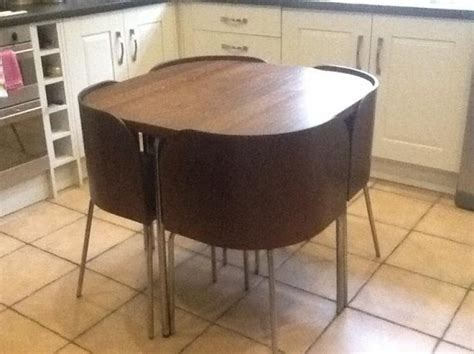 ikea fusion space saving table amp chairs kitchendining